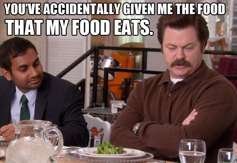 Ron Swanson My Food Eats